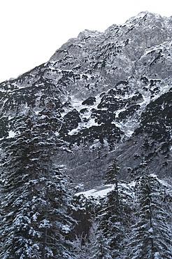 Snow covered Karwendel Mountains, Hinterriss, Tyrol, Austria