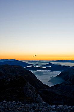 Hochschwab in sunrise, Styria, Austria