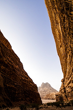 Rock face, Wadi Rum, Jordan, Middle East