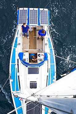 Crew on a sailing boat, Pula, Istria, Croatia