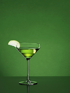 Appletini cocktail with green background, Cocktail, Drink