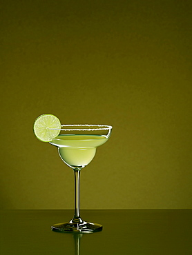 Margarita cocktail with green background, Cocktail, Drink
