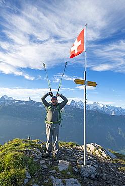Hike with bivouac on Hardergrat, Lake Brienz, Berner Oberland, Switzerland