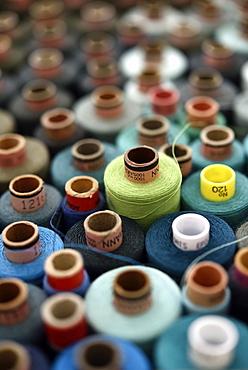 sewing thread, garn rolls at a dressmakers in Hamburg, Germany