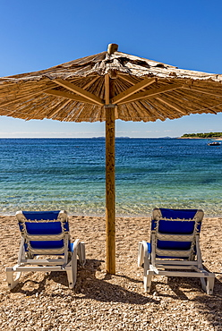 Famous, beautiful Mala Raduca beach, Primosten, Croatia