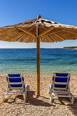 Famous, beautiful Mala Raduca beach, Primosten, Croatia