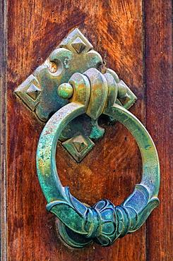 Decorative door knocker, Temple of Juno, Valley of Temples, Syracuse, Sicily, Ortigia, Italy