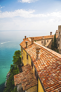 View of the Gulf of Trieste from Duino Castle, Italy