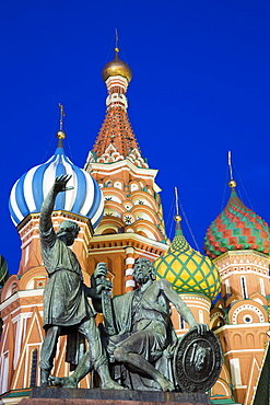 Monument to Minin and Pozharsky, Saint Basil's Cathedral, Red Square, Moscow, Russia