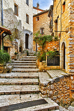 Housing in a medieval village, Tourrettes-sur-Loup, France