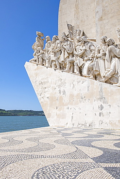 Part of 'Monument of the Discoveries' situated on the Tagus river, Lisbon, Portugal