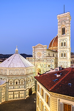 Florence Cathedral, Giotto's Campanile, Baptistry of St. John, Brunelleschi's Dome, Florence, Tuscany, Italy