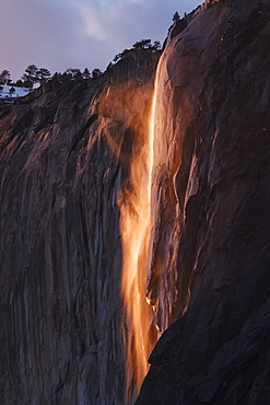 Yosemite Firefall at Horsetail Fall in Yosemite Valley, Yosemite National Park, California, United States of America