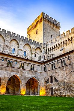 Papal Palace, Avignon, Provence Alpes Cote d'Azur, France
