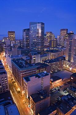 Buildings in The Theater Districe, Ritz Carlton, Boston, Suffolk County, Massachusetts, USA