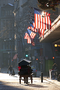 Buildings in a city, Downtown Crossing, Boston, Suffolk County, Massachusetts, USA