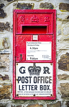 Georgian Post Office red letter box; Allenheads, Northumberland, England