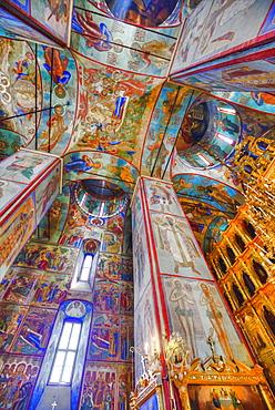 Frescoes, Holy Dormition Cathedral, Trinity Sergius Lavra Monastery complex; Sergiev Posad, Moscow Oblast, Russia