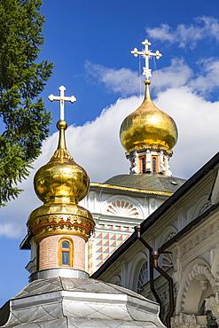 Gold onion domes, Trinity Sergius Lavra Monastery complex; Sergiev Posad, Moscow Oblast, Russia