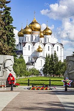 War Memorial with Eternal Flame, Assumption Cathedral; Yaroslavl, Yaroslavl Oblast, Russia