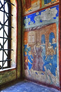 Fresco, Church of St John the Baptist; Yaroslavl, Yaroslavl Oblast, Russia