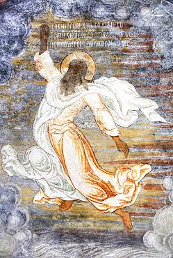 Church of Elijah the Prophet, fresco on the wall of Elijah's ascension into heaven in a whirlwind; Yaroslavl, Yaroslavl Oblast, Russia