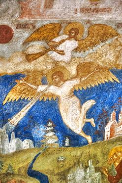 Fresco in the Church of St John the Baptist; Yaroslavl, Yaroslavl Oblast, Russia