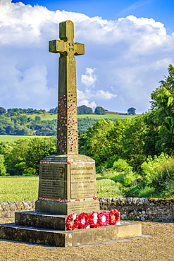 World War One war memorial at Chollerton Parish; Chollerton, Northumberland, England