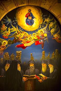 Fresco, Holy Monastery of Varlaam, Meteora; Thessaly, Greece