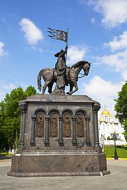 Statue of Prince Vladimir and Monk Fyodor, Puskin Park; Vladimir, Russia