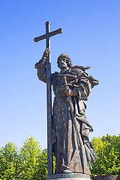 Statue of Pamyatnik Knyazyu Vladimiru; Moscow, Russia