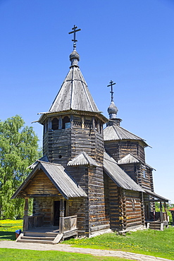 Wooden church building, Museum of Wooden Architecture; Suzdal, Vladimir Oblast, Russia