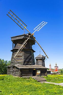 Wooden windmill, Museum of Wooden Architecture; Suzdal, Vladimir Oblast, Russia