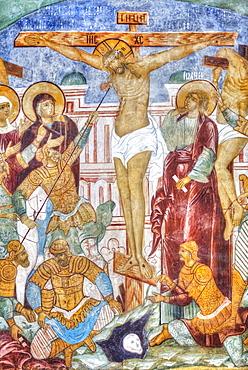 Fresco, Miracle-Image of the Saviour Church, Kremlin, Golden Ring; Rostov Veliky, Yaroslavl Oblast, Russia
