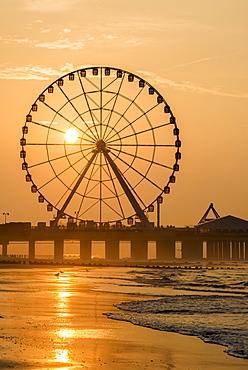 Sunrise on Atlantic City Beach; Atlantic City, New Jersey, United States of America