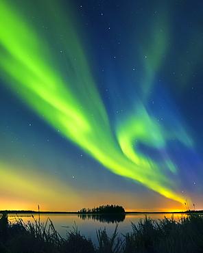 Northern Lights (Aurora Borealis), Elk Island National Park; Alberta, Canada