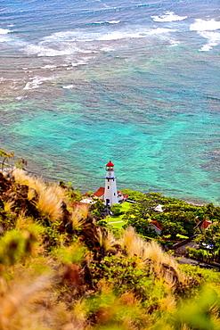 Lighthouse along the coast of Oahu; Oahu, Hawaii, United States of America