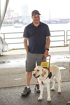 Man with Visual Impairment and his service dog