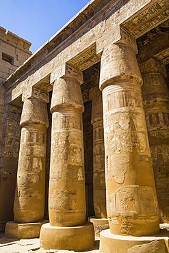 Columns, Temple of Khonsu, Karnak Temple Complex, UNESCO World Heritage Site; Luxor, Egypt