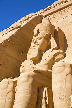 Ramesses II Statue, Ramesses II Temple, UNESCO World Heritage Site; Abu Simbel, Egypt