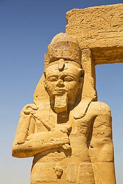 Statue of Ramses II, Gerf Hussien Temple, Kalabsha, UNESCO World Heritage Site, near Aswan; Egypt