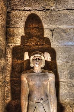 Statue of Ti, Mastaba of Ti, Necropolis of Saqqara, UNESCO World Heritage Site; Saqqara, Egypt