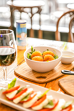 Traditional Italian cuisine in a restaurant; Melbourne, Victoria, Australia