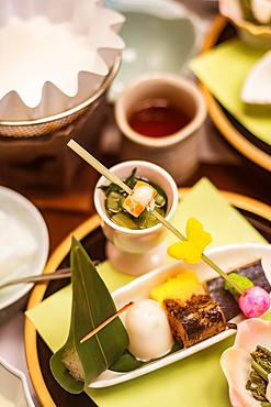 Detail of Japanese food; Kyoto, Kansai, Japan