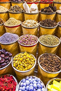 Spices at the Dubai Spice Souq; Dubai, United Arab Emirates