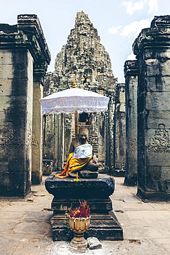 Bayon Temple in the Angkor Wat complex; Siem Reap, Siem Reap, Cambodia