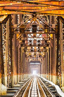 Long Bien Bridge; Hanoi, Vietnam