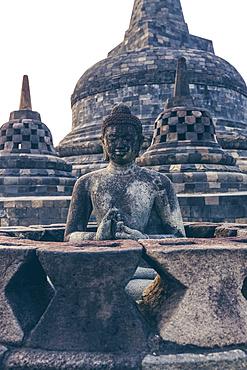 Buddha statue of Borobudur Temple; Yogyakarta, Indonesia