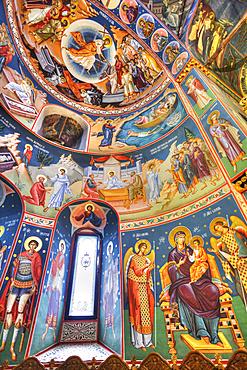 Frescoes, New St George Church, 1705, Old Town Bucharest; Bucharest, Romania