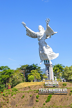 Christ Blessing Statue; Manado, North Sulawesi, Indonesia
